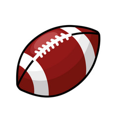 Color american football and his ball icon vector