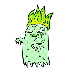 Comic cartoon spooky ghost vector