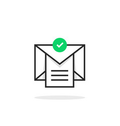 Confirmation email with checklist vector