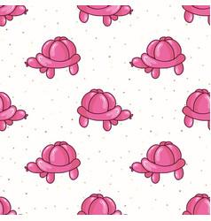 Cute cartoon pink girls balloon animal turtle vector