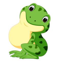 Cute frog cartoon vector