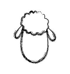 cute sheep manger character image vector image