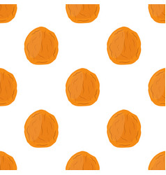 dried apricot seamless pattern cartoon flat style vector image