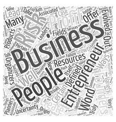entrepreneurs Word Cloud Concept vector image