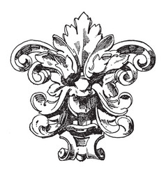 floral grotesque mask was designed during the vector image