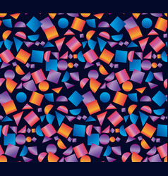 geometric seamless pattern on black backdrop vector image