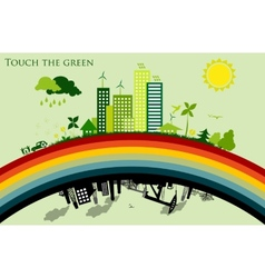 greening cities concept ecology vector image
