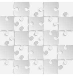 Grey Puzzles Pieces - JigSaw - 25 vector