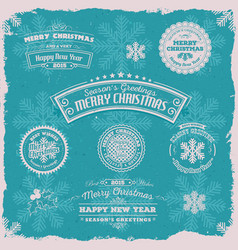 Grunge seasons greetings banners vector