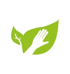 hand human leaf help gesture fingers palm icon vector image