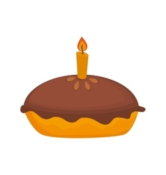 Icon pie cake dessert isolated vector