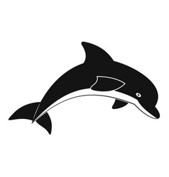 jumping dolphin icon simple style vector image