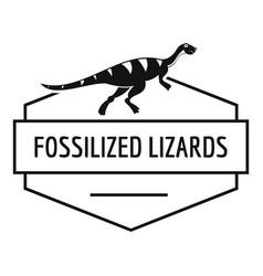 jurassic lizard logo simple black style vector image