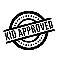 Kid Approved rubber stamp vector image