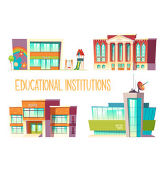 kindergarten school state and science university vector image