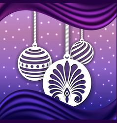 laser cut balls for christmas background vector image