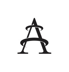 letter a rotate movement logo vector image