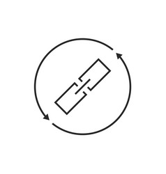 Link exchange thin line icon vector