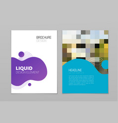liquid layout brochure template modern design vector image
