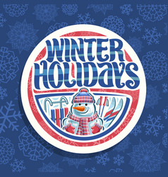 Logo for winter holidays vector