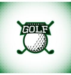 Logo golf tournament vector