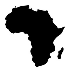 Map of africa icon black color flat style simple vector