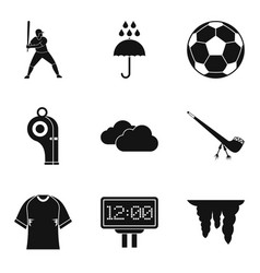 match point icons set simple style vector image