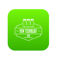microchip icon green vector image