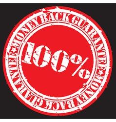 Money back guarantee 100 percent stamp vector image