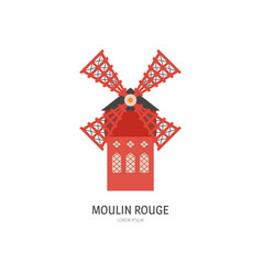 moulin rouge drawing vector image