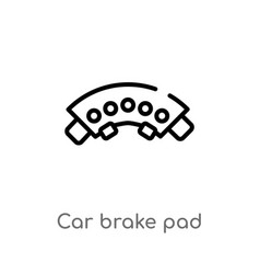 Outline car brake pad icon isolated black simple vector