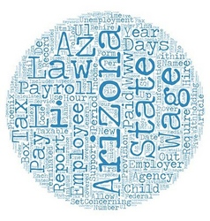 Payroll arizona unique aspects of arizona payroll vector
