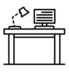 Pc homework table icon outline style vector