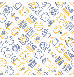 pet shop seamless pattern vector image