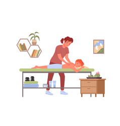 Physiotherapy massage treatment medical vector