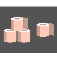 Pink Toilet Paper vector