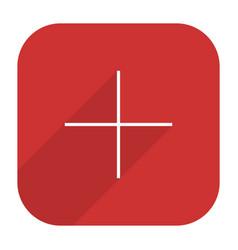 Pinterest social network icon add followers vector