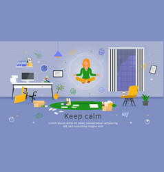 Productivity in office work flat banner vector