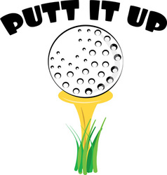 Putt it Up vector
