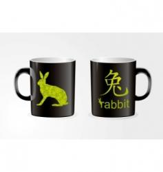 rabbit Zodiac symbol vector image