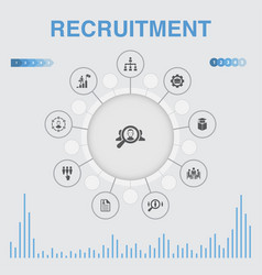 Recruitment infographic with icons contains such vector