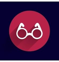 Round Glasses Icon Symbol vision specs vector image