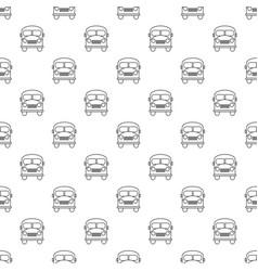 school bus pattern seamless vector image