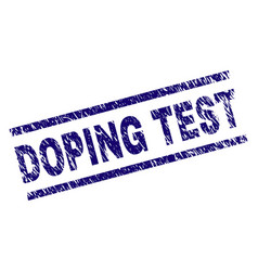Scratched textured doping test stamp seal vector