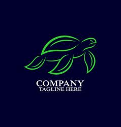 sea turtle logo design vector image