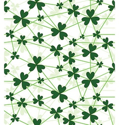 seamless flower shamrock vector image