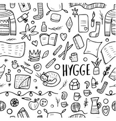 seamless pattern of hygge concept vector image