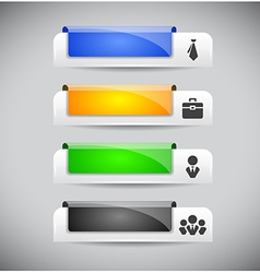 Set of color plastic buttons for web vector image