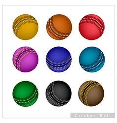 Set of Cricket Ball on White Background vector image