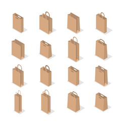 set of paper packaging in 3d vector image